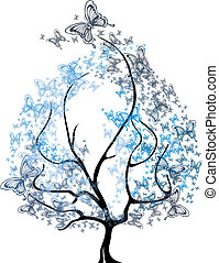 Vector - four seasons tree - Vector - four seasons - spring,...
