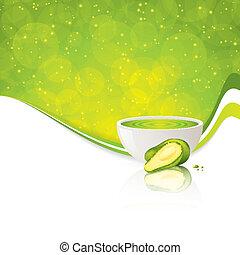 Avocado cream Vector illustration