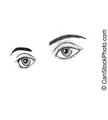 Beautiful eyes - Illustration of female eyes