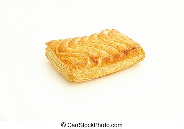 savory pasty on white background - savory pasty isolated on...