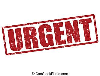 Urgent stamp - Urgent red grunge office stamp on white,...
