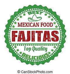 Fajitas stamp - Fajitas grunge rubber stamp on white, vector...