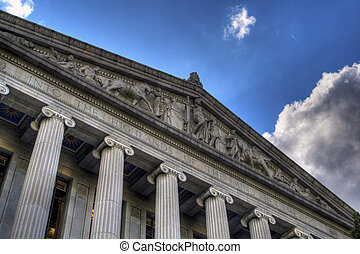 Sacramento Library and Courts Building HDR - A HDR image of...