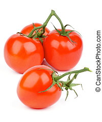 Ripe Tomatoes - Fresh Ripe Tomatoes with Stems and Twigs...