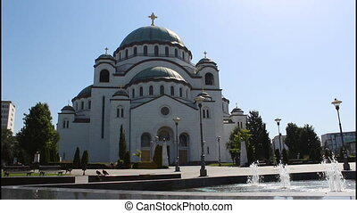 Belgrade, Temple, wide - Saint Sava Temple, wide