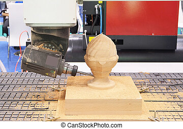 woodworking turning machine - The image of a woodworking...