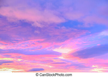 background of clouds in pastel colors - beautiful background...