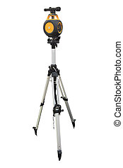 Theodolite isolated on a white background