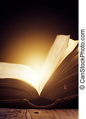 Old Book - Open book with magic light