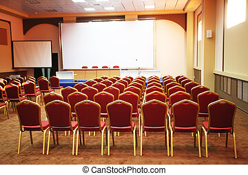 conference hall - Interior of a conference hall