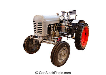 Tractor isolated under the white background
