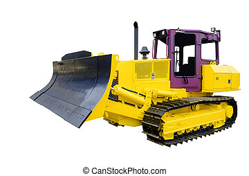 bulldozer under the white background