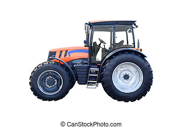 tractor under the white background