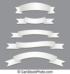 Silver Ribbons Flags