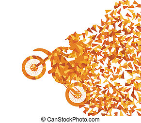 Motorcycle abstract background vector