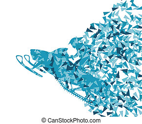 Snowmobile vector abstract background concept
