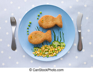 Fish Cakes with Vegetables