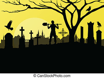 Clip Art Graveyard Clipart graveyard clipart and stock illustrations 9556 vector halloween spooky cemetery vintage background with