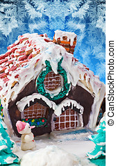 gingerbread house Christmas decorations for the holiday