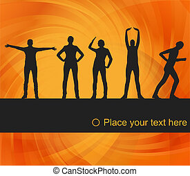 Women gymnastic exercises background illustration - Animated...