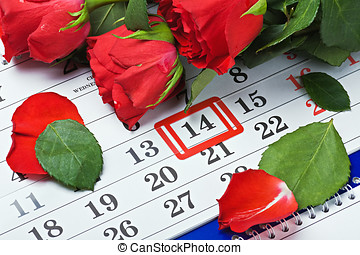 datum, februar,  14, Tag, valentines