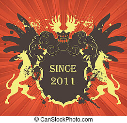 Coat of arms vector background