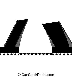 The drawbridge - Abstract image of the drawbridge The...