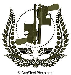 el, icono, dos, Mauser