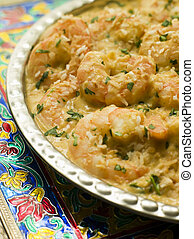 Dish of King Prawn Pasanda