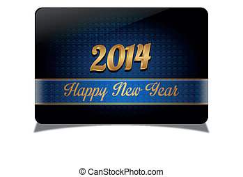 Abstract 2014 celebrate card