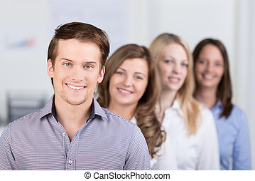Confident business team leader or manager - Successful young...