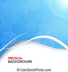 Abstract molecules medical background. - Abstract molecules...