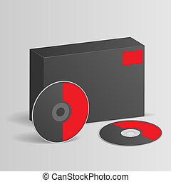 Blank software box with disc