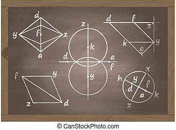 Back to school blackboard vector for poster
