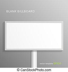 Blank billboard - Vector blank billboard isolated on gray...