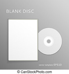 Blank disc - Vector blank DVD with paper cover isolated on...