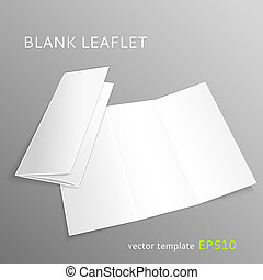 Blank leaflet - Vector blank leaflet isolated on gray...