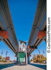 light rail train station in   charlotte nc