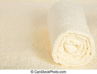 Soft, fluffy towel against a terry cloth - The soft fluffy...