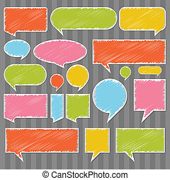 Colorful speech bubbles and balloons vector - Colorful...