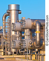 Part of a modern natural gas processing plant - New Modern...