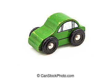 Green Wooden Car Toy