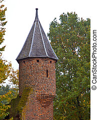 Old Castle Turret - Tower Turret of a Medieval Castle in...