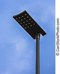 LED Street Light pole - Modern LED Street Lights on White...