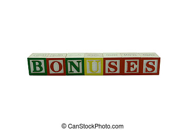 Wooden Alphabet Blocks Spelling Bonuses - A series of Wooden...