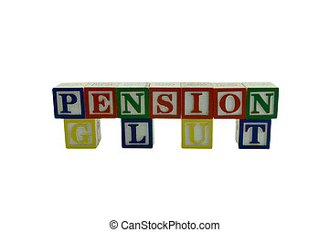 Wooden Alphabet Blocks Spelling Pension Glut - A series of...