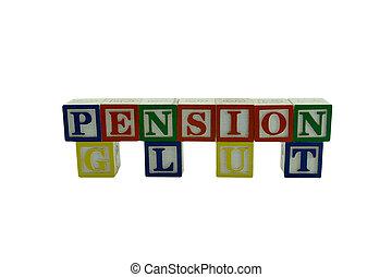 Wooden Alphabet Blocks Spelling Pension Glut