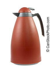 Thermos Flask - Isolated orange plastic thermos flask