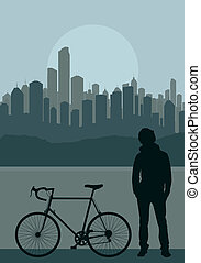 City landscape illustration vector for poster