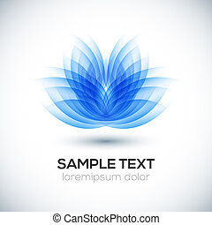 Flower shape. Lotus. - 3D flower shape. Lotus. Vector...